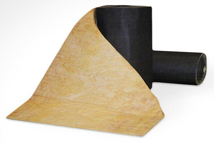 Glass wool insulation blanket  cover with black fiber cloth