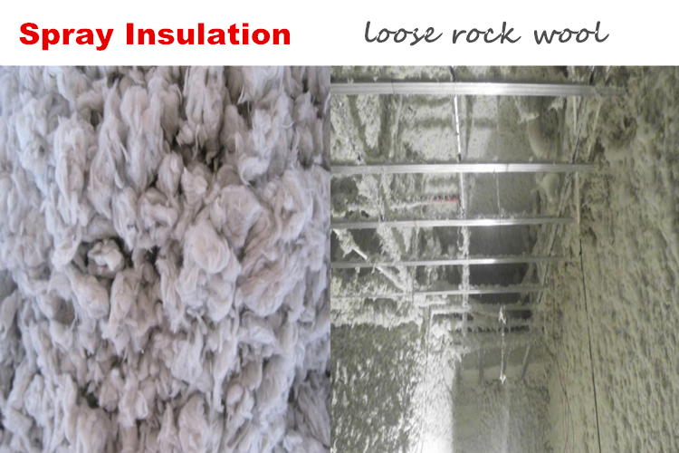 Spray Insulation Loose Rock Wool Blog Coning